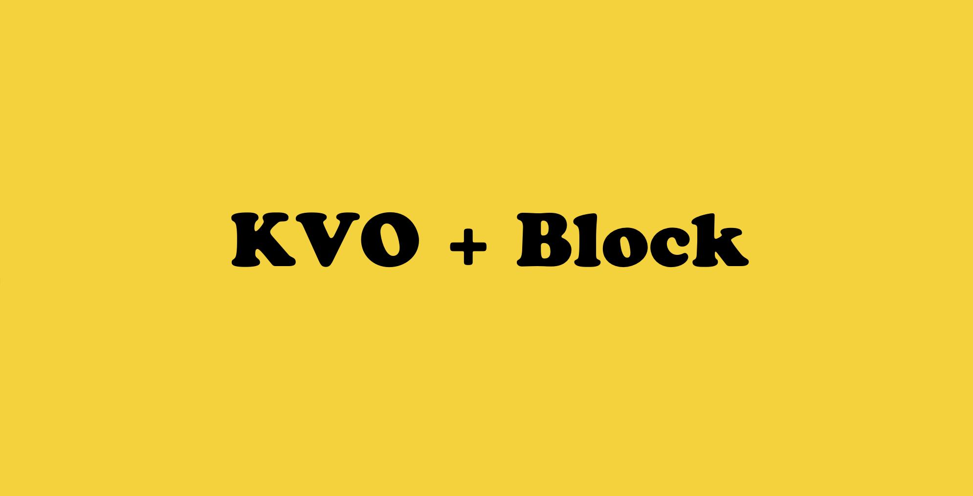 使用Block来实现KVO